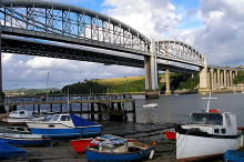 Saltash, Bridges and boats, Cornwall © Tinminer